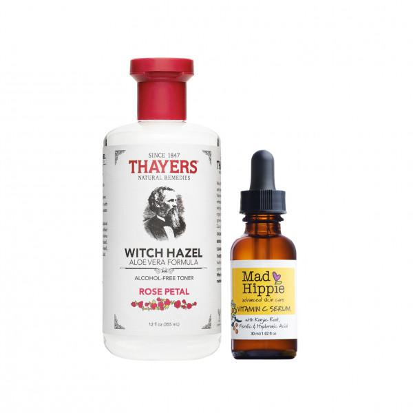 Mad Hippie | Vitamin C Serum 30 ml. Thayers Rose Petal 355 ml.